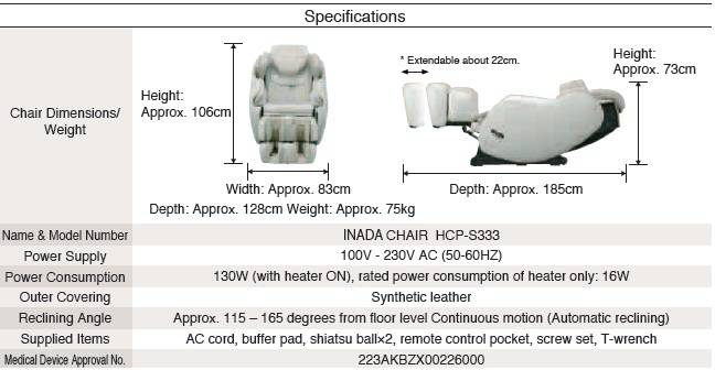Inada 3s Flex Medical Massage Chair Australia Best